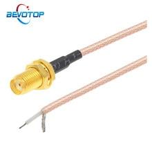 1 pces única extremidade sma fêmea para pcb solda trança rg316 cabo para wifi roteador sem fio gps gprs baixa perda jack plug fio conector