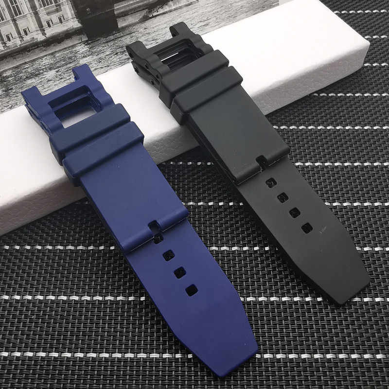 Popular 28mm Black Blue watchband Waterproof Rubber for Subaqua Watch Band Belt For Invicta strap Noma III Noma 3 - 18520 19828