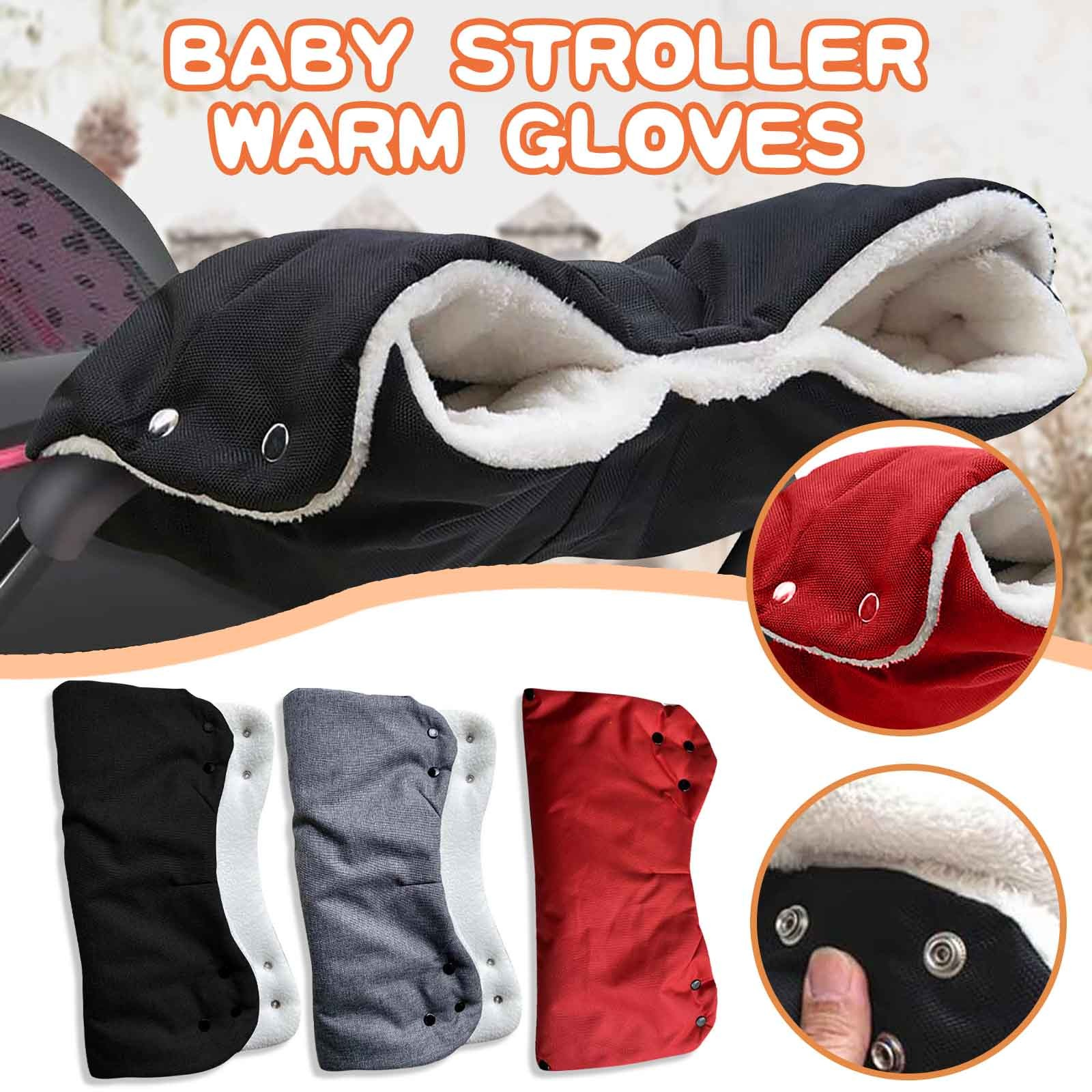winter Keep Warm stroller gloves baby rider Fleece Hand Keep Warmers Waterproof Windproof Antifreeze Baby wool Trolley Gloves