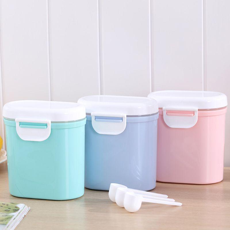 caja de almacenamiento de f/órmula de alimentaci/ón de contenedor de alimentos de tres capas de polvo de arroz Dispensador de leche en polvo para beb/és multifuncional