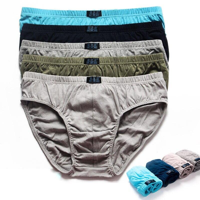 6pcs/lot Plus Size 5XL 100% Cotton Mens Briefs Solid Men Underwear Panties Men's Breathable Panties Comfortable Sexy Shorts