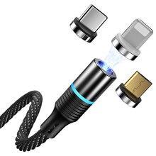 5А кабель для быстрой зарядки данных сильная Магнитная сила Три в одном Быстрая зарядка Магнитная присоска 1 м 1 линия 1 головка для Huawei Appl