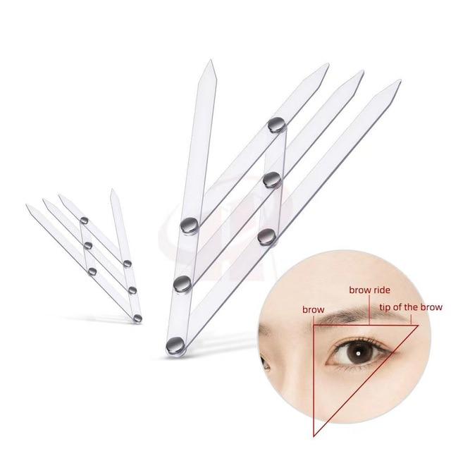 1pcs Permanent Makeup Supplies Golden Ratio Caliper Eyebrow Ruler Microblading Accessories Eyebrow Stencil Tattoo Measure Tools 5