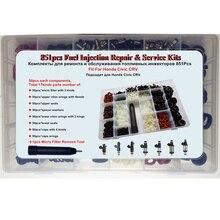 851 шт 17 видов/коробка топливный инжектор ремонтный набор для Honda Civic Accord CRV запасные части фильтр кольцо уплотнения наборы