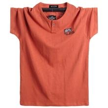 Размера плюс 5XL 6XL Мужская футболка большого роста с коротким рукавом больше размера d, Хлопковая мужская футболка большого размера, летняя футболка, летние топы