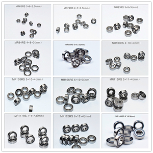 Image 1 - Rubber Seal Multiple sizes Miniature bearing 10piece free shipping MIX MR63 MR74 MR85 MR95 105 106 115 117 126 128 137 148