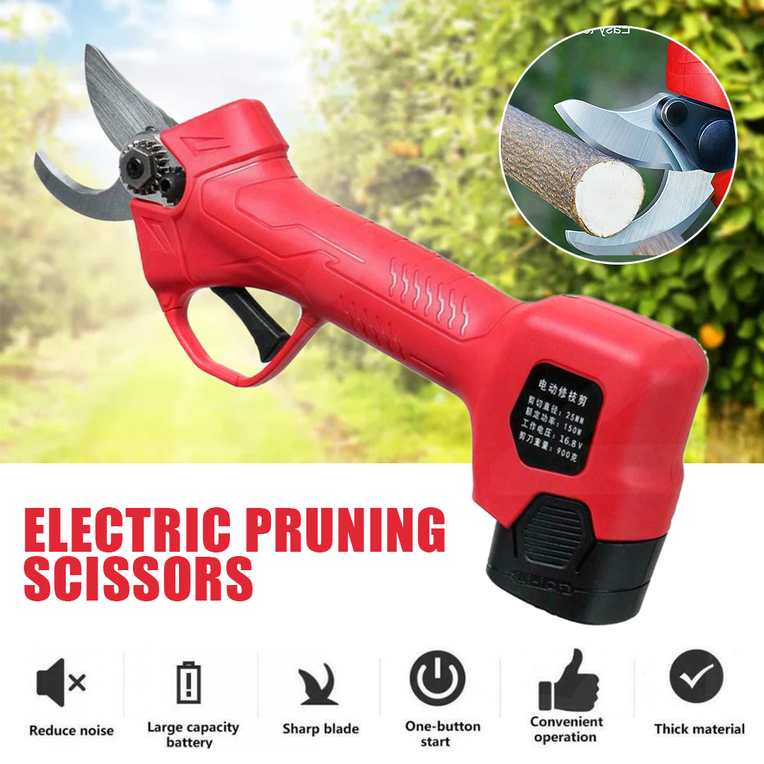 Electric Pruning Scissors Branch Cutter Trimmer 25mm Electric Garden Pruning Shears Pruner Scissors Tools