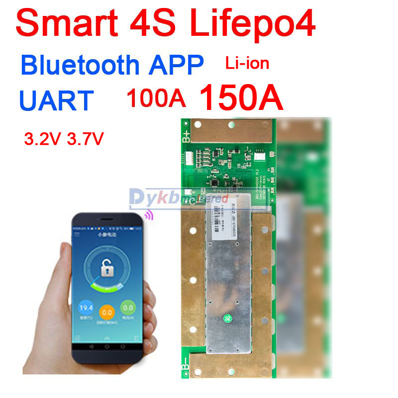 Smart BMS 4S 12V 150A 100A Lifepo4 Li-ion Lithium Battery Protection Board W Balance Liion BMS Bluetooth APP PC Monitor