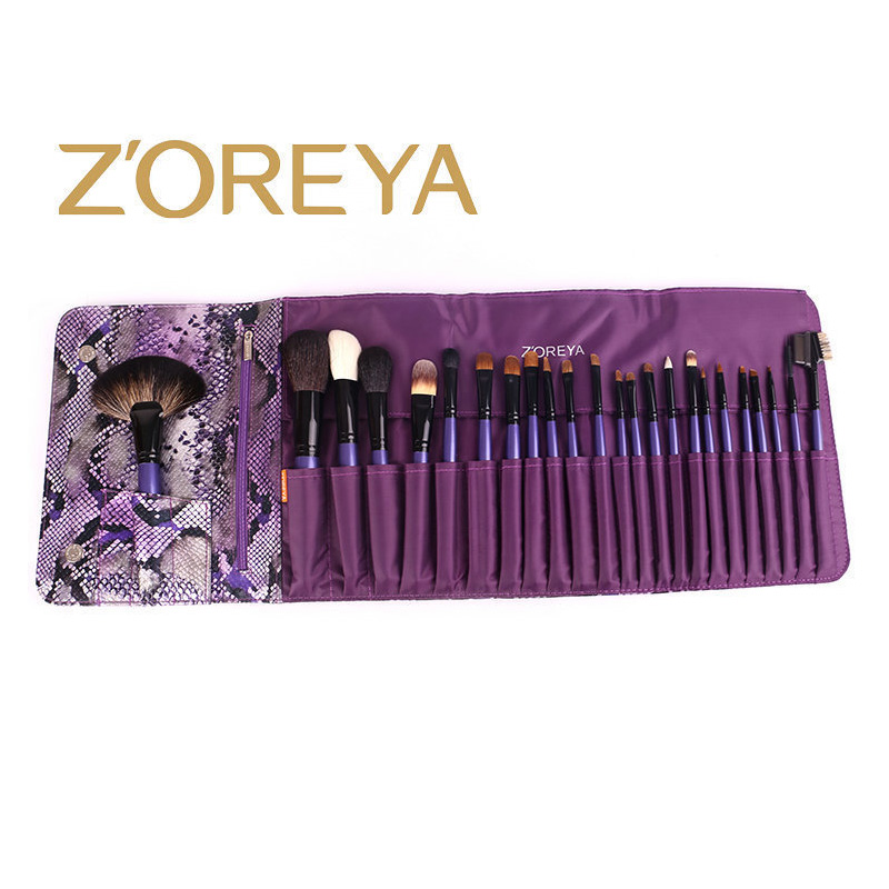 Набор кистей для макияжа, 24 набора кистей, черная деревянная ручка, Профессиональный набор кистей для макияжа, высококачественные косметические инструменты - 4