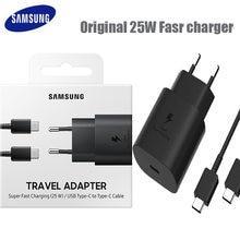 Samsung original 25 w carregador super rápido para samsung galaxy note 10 note10 plus note10 + USB-C carregador de parede de carregamento rápido
