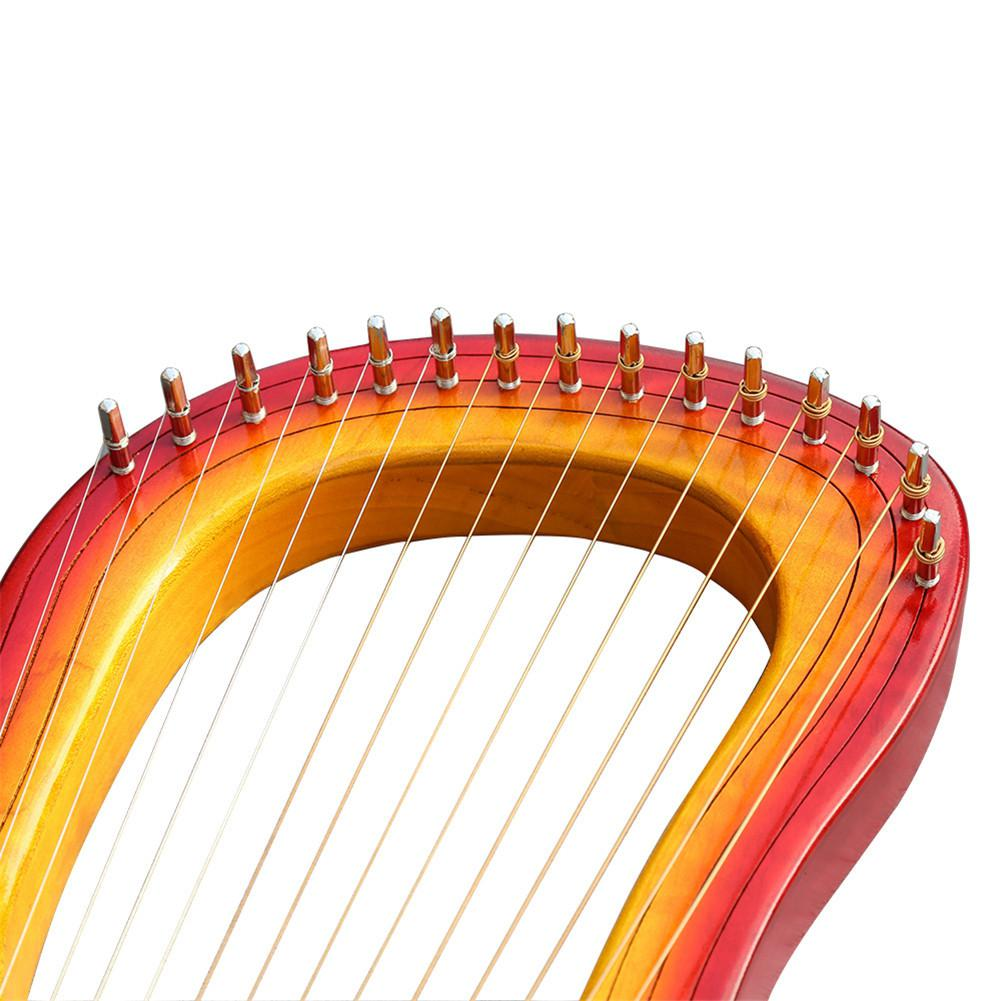 Hohe qualität GK 15MC 15 String Holz Leier mit Wasserdichte Tragen Tasche String Instrument Set - 6