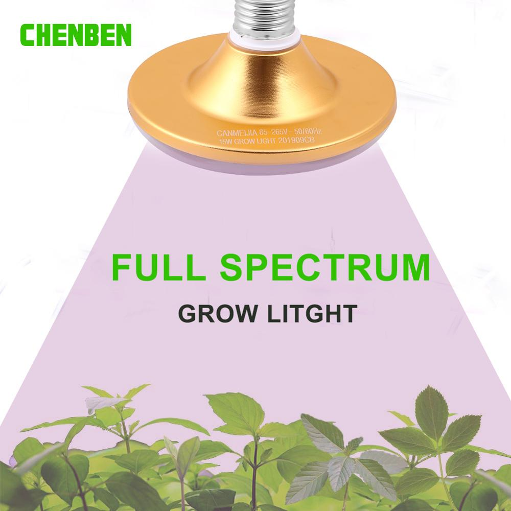 Full Spectrum E27 Led Grow Light Bulb 85-265V Fitolampy Phyto Grow Lamp Indoor Garden Plants Flower Hydroponics Grow Tent Box