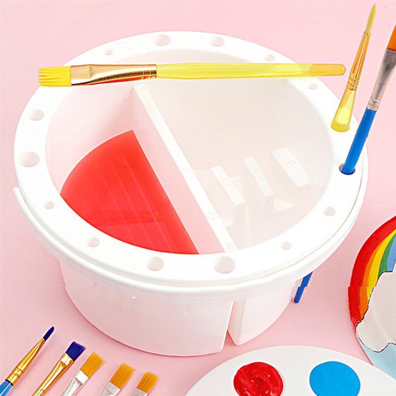 2pcs Multifunction Brush Washing Bucket Wash Pen Barrel Paint Brush Washer Art Supplies Brush Washing Bucket Art Supplies