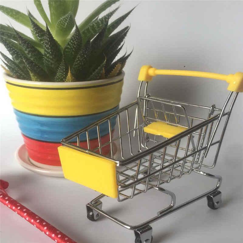Creative סופרמרקט מיני קניות עגלת עגלת מתכת סימולציה קיד צעצוע