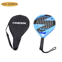 Professional full Carbon beach Tennis Paddle Racket Soft EVA Face Tennis Raqueta With Bag For adult Training Accessories