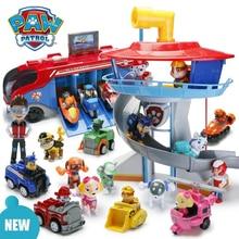 Paw Paterol, набор игрушек, фигурки, милый щенок с инерционным автомобилем, патруль, лапа, Круизер, автобус, спасательная машина, смотровая башня, игрушки для детей