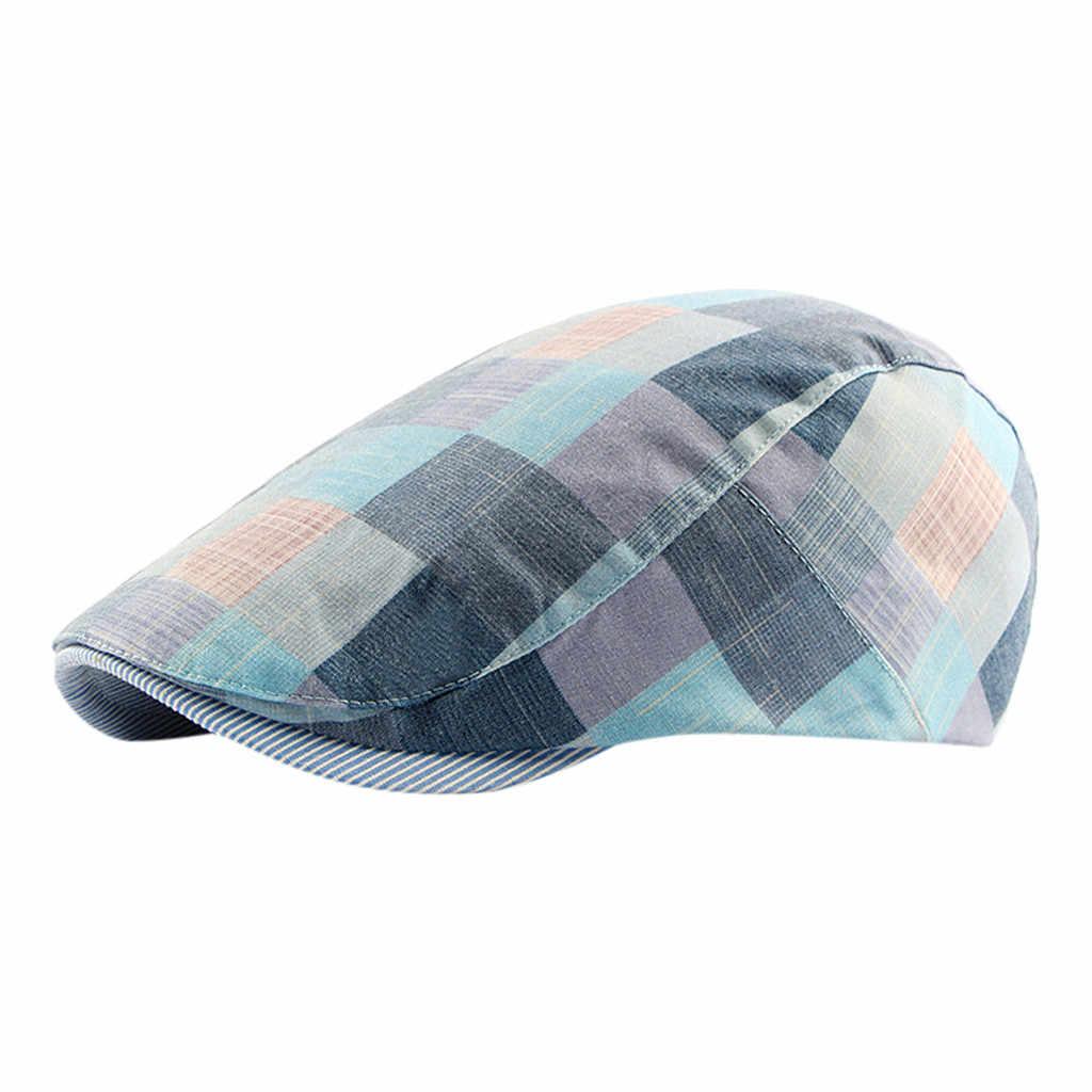 Unisex ฝ้ายแบนหมวก Beret Newsboy หมวก Ivy Cabbie Casual & สไตล์ Beret หมวกกลางแจ้ง Sun Breathable หมวก boina masculina