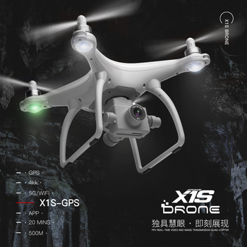 цена на WL X1S GPS Fixed Height Drone 4K Two-axis Gimbal Stabilizer 5G WiFi HD Camera Drone Professional FPV RC Quadcopter Drone VS F11