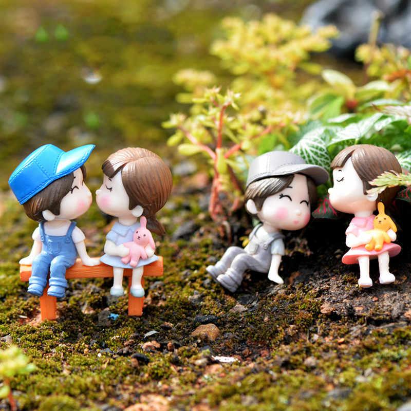 3 個セットベンチ愛好家置物gnomeミニチュア妖精ガーデンアクセサリーの写真撮影の小道具diyのミニドールハウスギフト