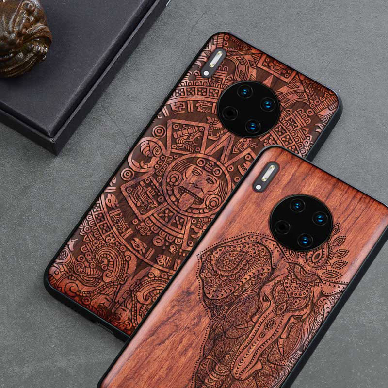 2019 New For Huawei Mate 30 Pro Case Slim Wood Back Cover TPU Bumper Case On Huawei Mate30 Mate 30 Pro Phone Cases