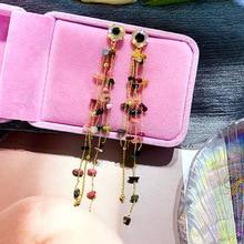 south korea earrings jewelry temperament simple retro long  ear line geometric earrings for women statement earrings