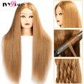 Weibliche Mannequin Kopf Für Frisuren Mixed 85% Echte Menschliche Haar Für Puppe Friseur Maniquin Ausbildung Dummy Kopf Für Styling