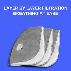 Image 3 - X tiger lavable sport entraînement cyclisme masque avec filtres charbon actif PM2.5 Anti Pollution cyclisme masque avec contour doreille