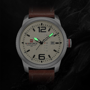 Image 2 - 2020 NEW Luxury Brand NAVIFORCE Men Sport Watches Mens Quartz Clock Man Army Military Leather Wrist Watch  Relogio Masculino