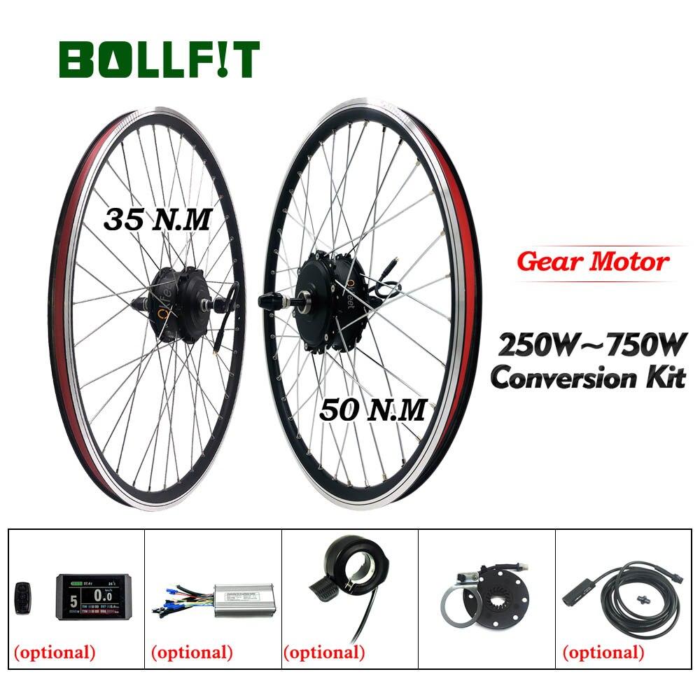 Ebike Conversion Kit 36V 250W 48V 750W Ausgerichtet Hub Motor Rad kt Controller LCD Display Elektrische fahrrad Bike Conversion Kit