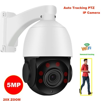 CamHi 5MP wireless 20X ZOOM Humanoid Auto Track IR PTZ speed IP Camera Humanoid recognition Build in MIC Speaker 128GB sd card 1
