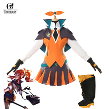 ROLECOS Game LOL Lux Cosplay Costume Battle Academia Suit Costumes for Women Uniform Top Skirt Shoes Cover Full Set