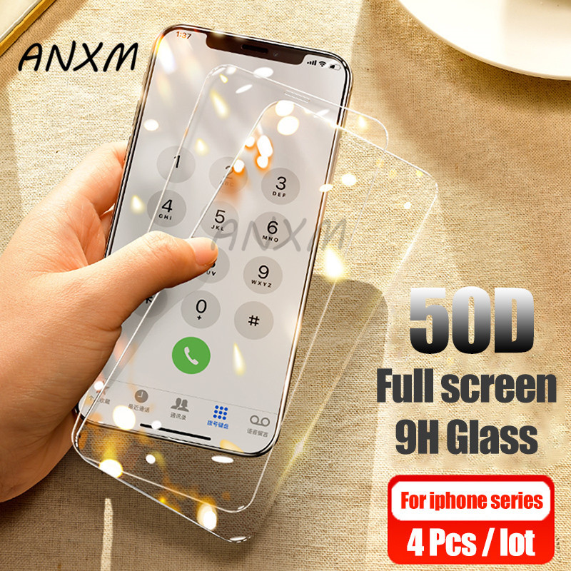 Tempered-Glass Screen-Protector iPhone X 4-Protective-Film Full-Cover XR 8-Plus for XS