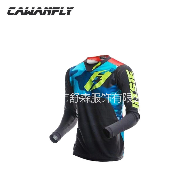 18-America jitsie Bicycle Clothing Summer Long Sleeve Mountain Bike Off-road Motorcycle Clothing Riding Clothes MEN'S T-shirt