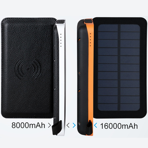 Image 2 - Cargador de teléfono inalámbrico Qi, Banco de energía Solar a prueba de agua, batería externa de 8000mah, Cargador rápido para Xiaomi Mi