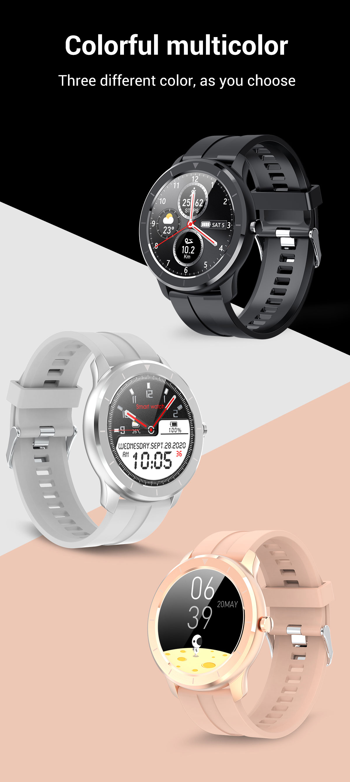 Hb2b87dd4bc134e1a9b53f62eadde3dd31 LEMFO Full Touch Screen Smart Watch Waterproof Smartwatch Men