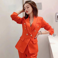 2020 Spring Suit New Women Fashion Elegant Slim Blazer and Pants Suit
