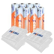 8 шт. PKCELL AAA 900mWh батарея 1,6 в NIZN перезаряжаемые батареи aaa ni zn перезарядка с 2 шт. AAA/AA чехол батареи/коробка для игрушек