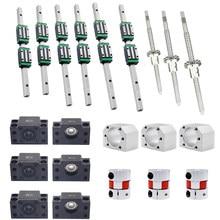 HGR20 квадратные линейные направляющие + Направляющий Блок HGH20CA + SFU1605 SFU1610 шариковый винт 5 мм свинцовый винт + BK12BF12 ЧПУ линейный привод