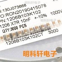 50 sztuk 100% oryginalna nowa naszywka kondensator 1206 X7R nf 10% 10 1000 v