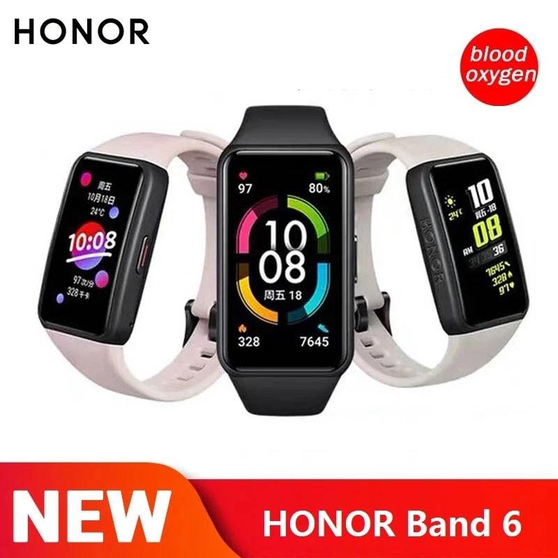 Новейшая модель; Honor Band 6 NFC умный Браслет 1st полный Экран 1,47