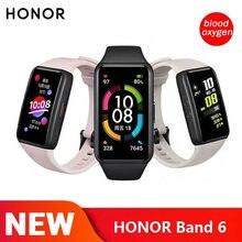 Mais novo honor band 6 nfc pulseira inteligente 1st tela cheia 1.47