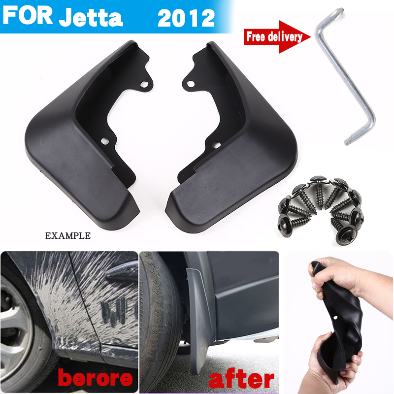 Set Molded Mud Flaps For <font><b>VW</b></font> Jetta 2012 <font><b>Mudflaps</b></font> Splash Guards Front Rear Mud Flap Mudguards image