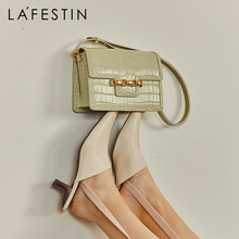 LA FESTIN Designer original 2021 new female messenger bag fashion shoulder bag underarm small square crocodile pattern leather