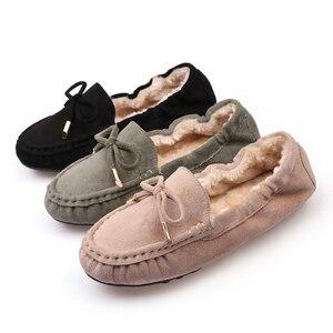 Image 4 - Giày Nữ Mùa Đông 2019 Thương Hiệu Thiết Kế Giày Oxford Cho Nữ Cho Nữ Khóa Bãi Xanh Đen Nữ Cuộn Trứng Mềm Mại Ba Lê giày