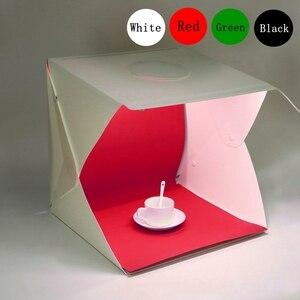 Image 1 - 2 LED מתקפל Lightbox 40cm נייד שולחן ירי Softbox צילום סטודיו תמונה Softbox מתכוונן בהירות אור תיבה