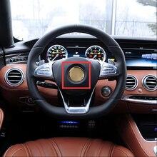 Decoration Logo-Sticker Center-Star-Emblem Steering-Wheel Amg Apple Mercedes-Benz 52/57mm