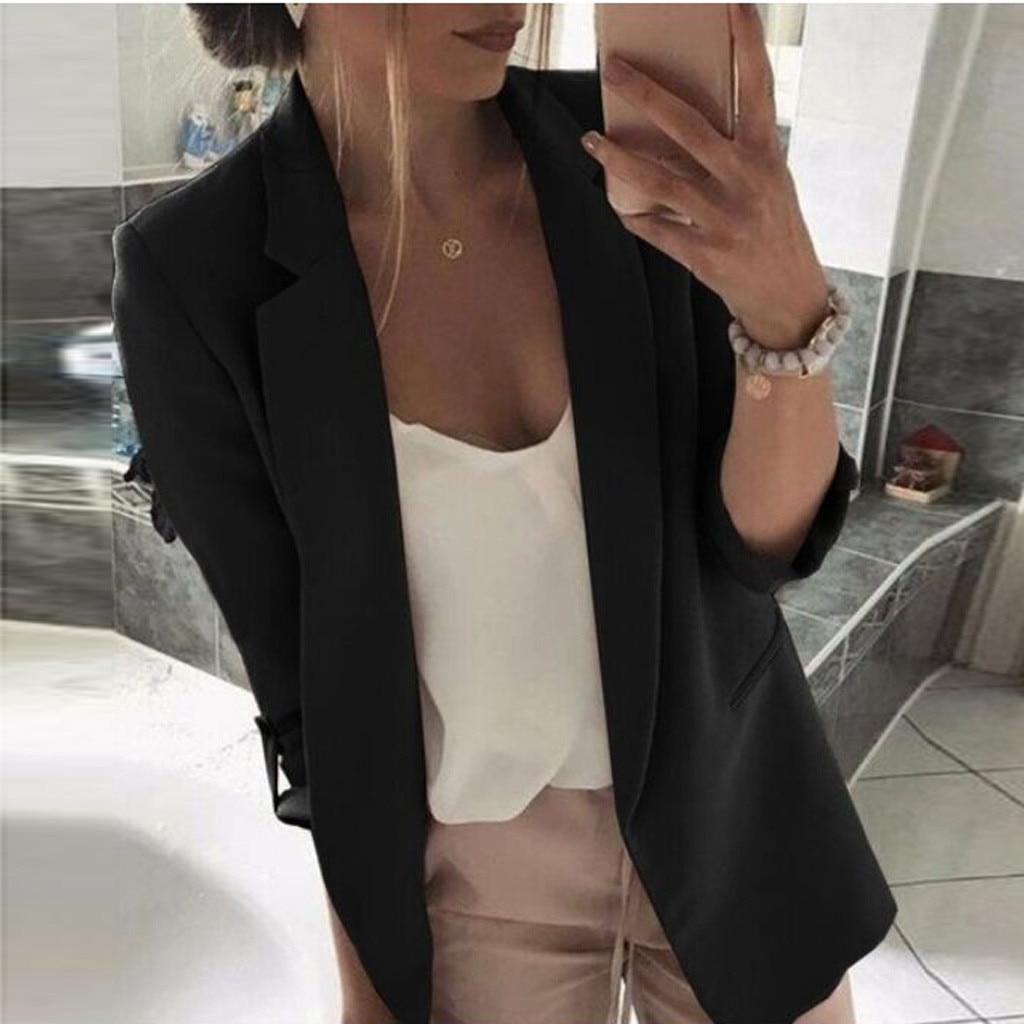 Womens Ladies Casual Long Sleeve Coat Suit Slim Top Blazer Jacket Outwear Formal