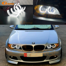 BMW 3 시리즈 E46 쿠페 Cabrio 컨버터블 2004 2005 2006 LCI DTM 스타일 울트라 브라이트 led 천사 눈 헤일로 링 데이 라이트