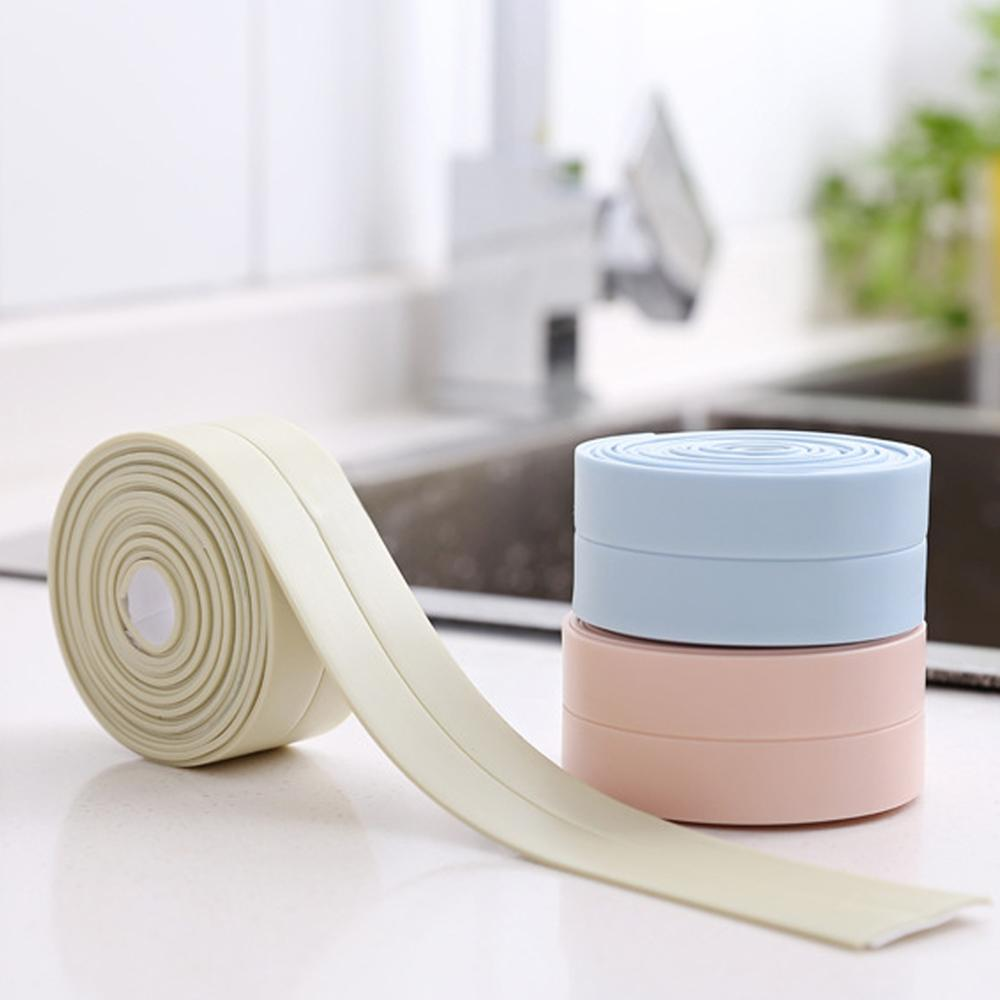 Настенные наклейки для ванной комнаты, кухни, художественная уплотнительная лента, герметичная лента, устойчивая к плесени и водонепроница...