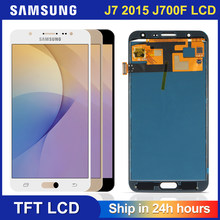 Pantalla LCD j700f para móvil, montaje de digitalizador con pantalla táctil para Samsung Galaxy J7 2015 J700 J700M J700H J700FN DS